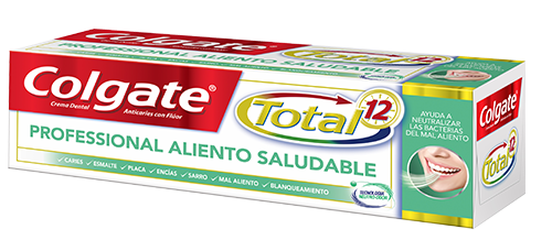 Crema Dental Colgate Total<sup>&reg;</sup> 12 Professional Aliento Saludable